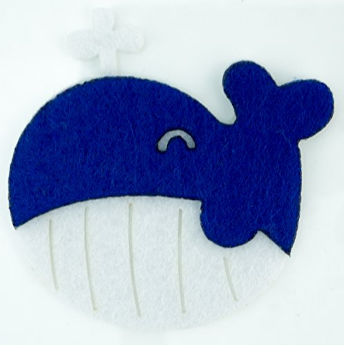 Cute Whale Applique Embroidered Sew Iron On Patch