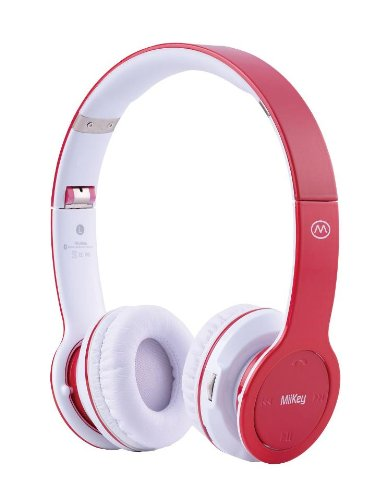 Miikey Wireless Rhythm Stereo Bluetooth Headphones For Iphone - Bluetooth Headset - Retail Packaging - Red