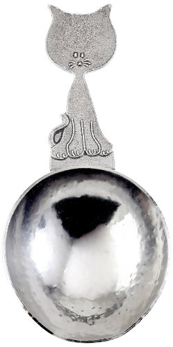 Crosby & Taylor Kitty Meow 1/4-Cup Pewter Pet Food Scoop