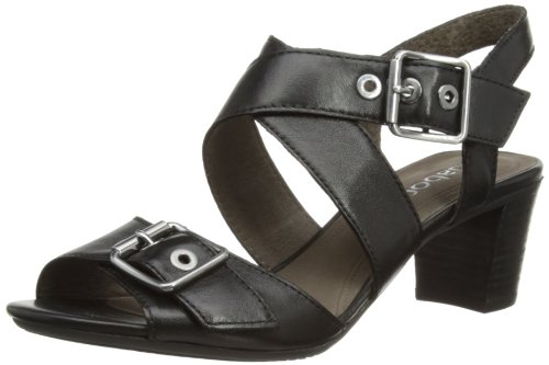 Gabor Womens Britney Fashion Sandals 85.874.27 Black 4 UK, 37 EU