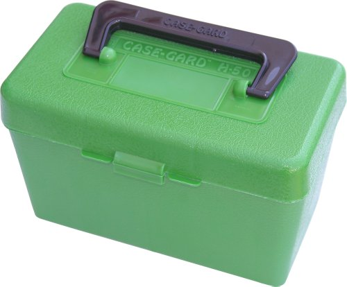 MTM Green Deluxe Handled 50 Round Rifle Ammo CaseB0000C53W8