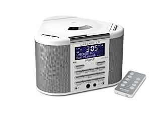PURE Chronos CD DAB/FM/CD/MP3 Stereo Clock Radio  - White