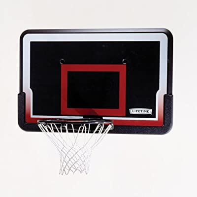 Lifetime 3819 Basketball Backboard and Rim Combo with 44in Impact Backboard