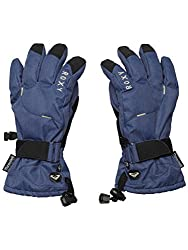 Roxy Women's Big Bear Glove Denim Print/Peacoat Gloves XL