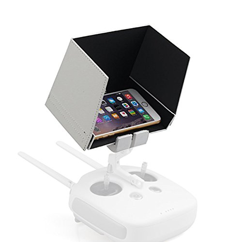 Powerextra-55-Inch-Smartphone-Monitor-Sunshade-Hood-for-DJI-Inspire-1-Phantom-3-4K-and-Phantom-4-Transmitters-compatible-with-iphone-6s-plus6s65s-Samsung-Galaxy-S6-EdgeS6S5-Galaxy-Note43