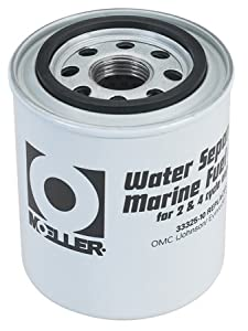 Moeller Water Separating Fuel Filter (Short Water, Mercury/Universal/Yamaha)