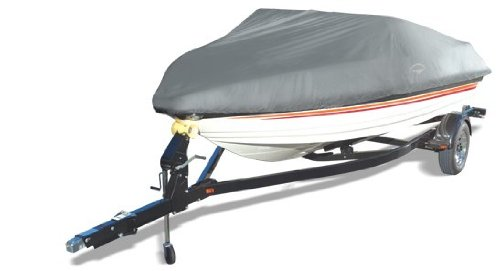 Offshore Easy Slip On Mooring Boat Covers by Wake (Model D) (Grey, Fits: 17 to 19-Feet)