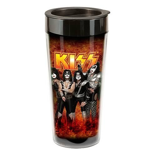 Vandor 87251 KISS Plastic Travel Mug, Multicolored, 16-Ounce