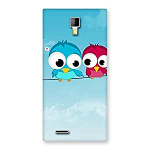 Special Birds on Wire Back Case Cover for Micromax Canvas Xpress A99