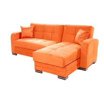 Where Can You Buy Kubo Rainbow Orange Sectional Sofa By Sunset