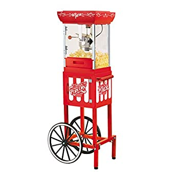 Nostalgia CCP399 48-Inch Tall Vintage Collection 2.5-Ounce Kettle Popcorn Cart