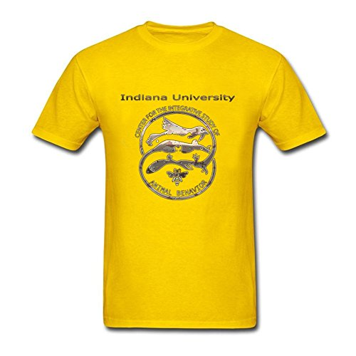 Famous Adult Indiana University Club 100% Cotton Short Sleeve T Shirt Yellow L Costume (Colossus Costume)