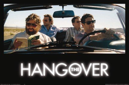 The Hangover Movie (Group in Car) Poster Print - 24