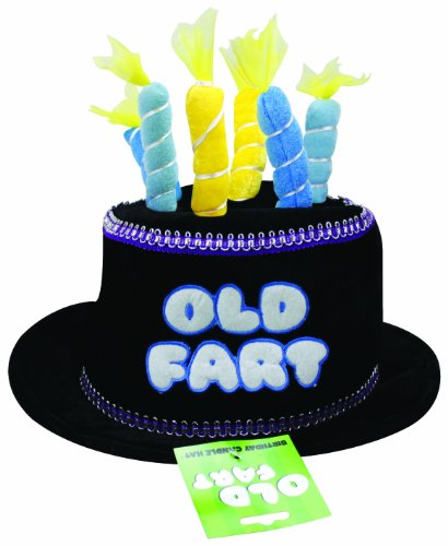 BigMouth Inc Black Birthday Candle Hat (Old Fart) - 1