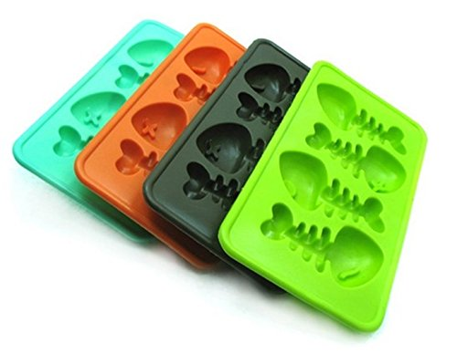 SMO Bones poissons de glace en forme de gel silicone Cube Maker Mold