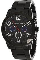 Michael Kors Mercer Chronograph Black IP Stainless Steel Mens Watch MK8291