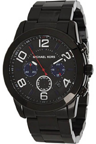 70ab8849402a Michael Kors Mercer Chronograph Black IP Stainless Steel Mens Watch MK8291