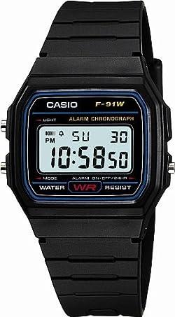 [カシオ]Casio 腕時計 スタンダードデジタルウォッチ 日常生活防水 LEDライトつき F-91W-1JF メンズ