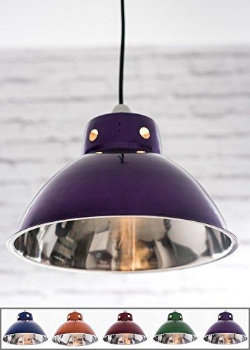 Funky Cafe stile retrò soffitto con paralume in metallo, stile Vintage Industriale, 300mm di diametro Purple