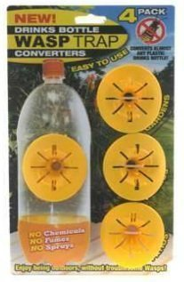 4-x-drinks-bottle-converter-wasp-bee-hornet-trap-no-chemicals-fumes-or-sprays