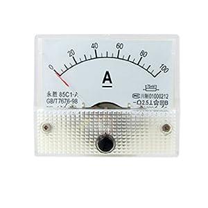 85C1 DC 0-100A Rectangle Analog Panel Ammeter Gauge