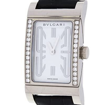 Bvlgari Rettangolo RTW39G 18K White Gold Diamond Swiss Quartz Ladies Watch from Bvlgari
