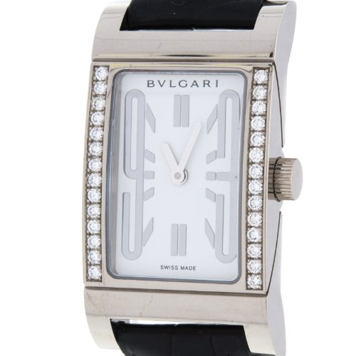 Bvlgari Rettangolo RTW39G 18K White Gold Diamond Swiss Quartz Ladies Watch