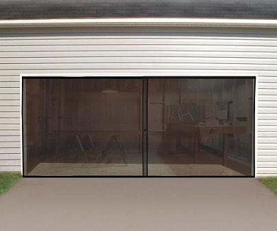 Anaconda Double Garage Door Screen, Black, 16' W x 7' H (Double Garage Door Screen compare prices)