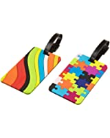 Travelon Luggage Puzzles and Swirls Set Of 2 Luggage Tags