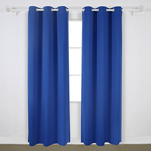 Monroe Solid Blackout Panel Grommet Curtain Thermal 40