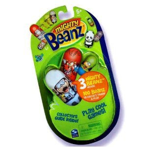 Spin Master Mighty Beanz 2009 NEW Series 1 Booster Pack 3 Beans - 1