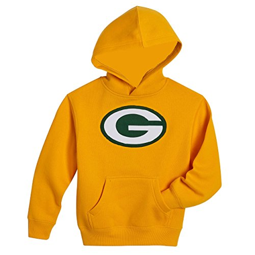 NFL Youth Team Logo Pullover Fleece Hoodie (Youth Small 8, Green Bay Packers, Gold) (Green Bay Super Bowl Hat compare prices)