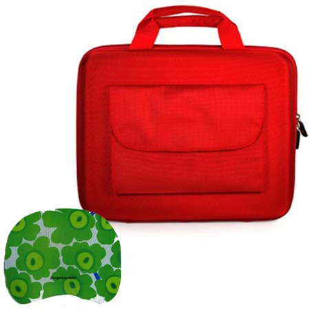 Acer Aspire AS1410-8913 11.6-Inch Laptop Hard Cube Carrying Case Pocket Red+ Bestpricecenter Mouse Pad
