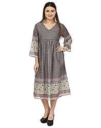 IroIro Women's A-line Dress_OL-1012_M_Grey_Medium