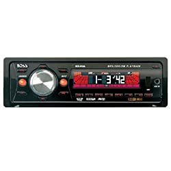 See Boss Audio 534UA In-Dash CD/MP3 Receiver with Drop-Down Front Panel Details