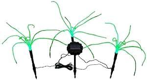 Wild Grass Solar Garden Lights. 3 Sprigs of Green Grass, 1.2 foot Tall