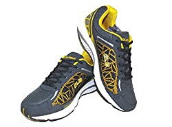 Columbus Yellow and Black Color Sports Shoe