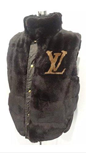 Louis Vuitton Mens Damier Ebene Reversible Rabbit Fur Vest size 56 (XXL) (Louis Vuitton Clothes compare prices)