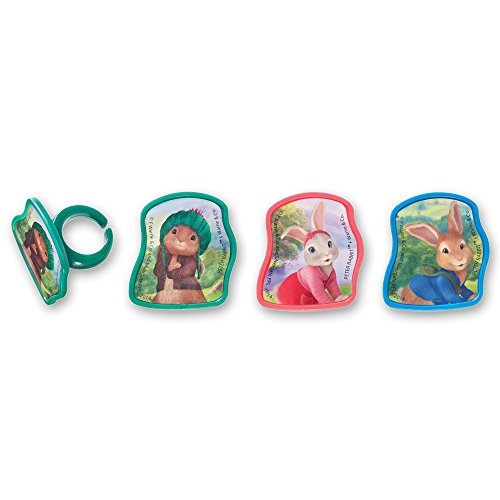 DecoPac Peter Rabbit and Friends Cupcake Rings (12 Count) (Rabbit Cake Pan compare prices)