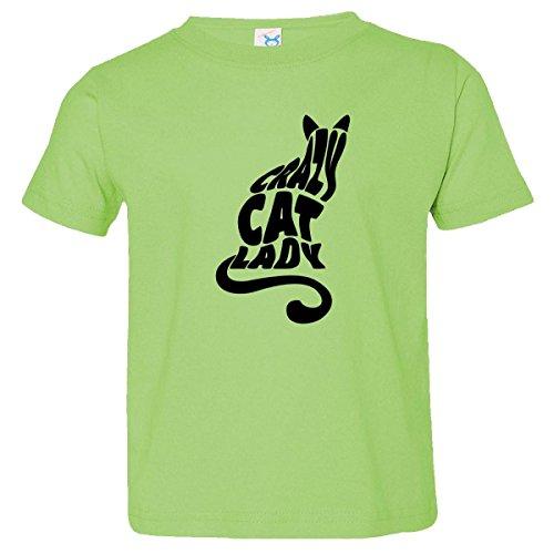 Inktastic Little Boys' Crazy Cat Lady Toddler T-Shirt 4T Key Lime