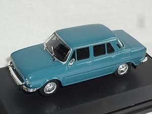 Skoda 110l 110 L 1969-1974 701le Baugleich S100 100 S Mittel Blau 1/43 Abrex Modellauto Modell Auto