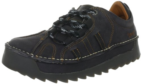 ART SKYLINE, Oxford stringata unisex adulto, Nero (Schwarz (OVERLAND REGALIZ)), 43