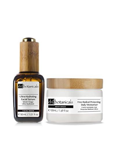 Dr Botanicals Set Viso Ultra-Hydrating Facial Serum + Free-Radical Protecting Daily Moisturiser