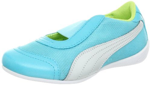 PUMA Sneaker (Toddler/Little Kid/Big kid)ina Mesh Fashion Sneaker (Toddler/Little Kid/Big kid),Blue/White/Sharp Green,10 M US Toddler