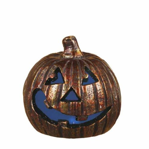 "6"" X 6"" Spooky Led Light Up Jack O Lantern (Set Of 10)"