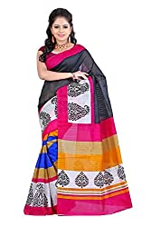 ROSHNI FASHIONS Multicolour Printed Material Cotton With Blouse Saree