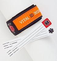 Kids! Adjustable Wrist Band Medical Alert ID Bracelet ~ Orange from AJ Hart