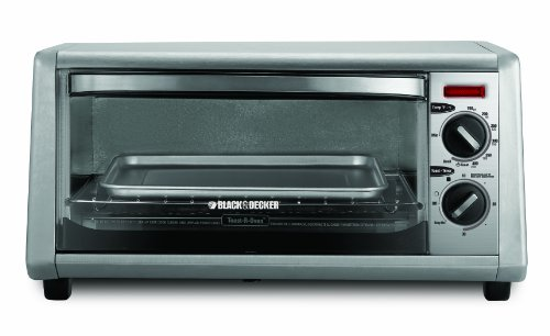 Black & Decker 4-Slice Toaster Oven, Silver (Toast R Oven Black And Decker compare prices)