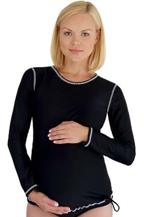Mermaid maternity women 39 s maternity long for Womens rash guard shirts
