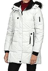 Steve Madden Women's Hooded Faux-fur Jacket Stone, Xlarge 1137SM